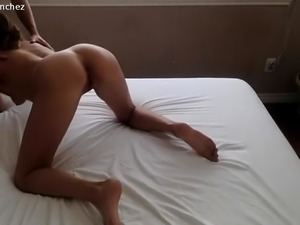 Masked wife with lovely boobs and ass takes a deep fucking