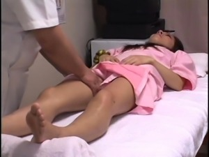 Beautiful Oriental babes getting used by a kinky masseur