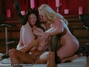 SweetSinner Master Makes Slaves AJ & Yhivi Cum Hard
