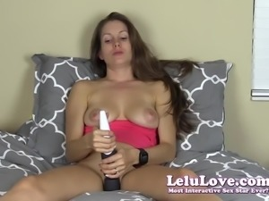 Sliding my panties off Masturbating with my wireless vibrato