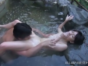 Sex in the sauna with a desirable Japanese siren