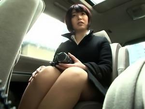 Busty Asian schoolgirl has a stiff cock making her cum hard