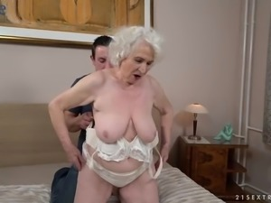 Fat mature slut Norma is actually good enough to ride dick on top