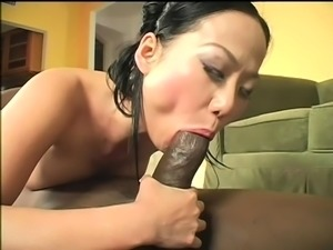 Tiny asian doggystyle sex by big black cock