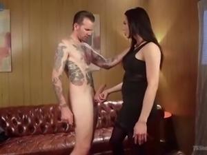 Fabulous well-packed ladyboy Amanda Jade gets a chance to analfuck dude