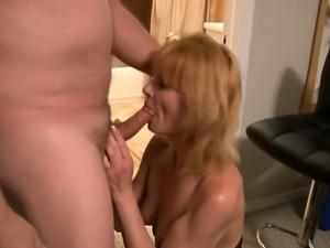Sensual blonde wife has a stiff rod pleasing her fiery peach