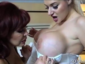 Sexy Vanessa and Hot Big Boob Blonde Dolly Fox