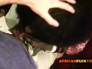 Tight African amateur fucked by whitey