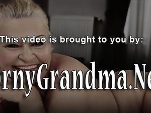 Grandma blows black cock