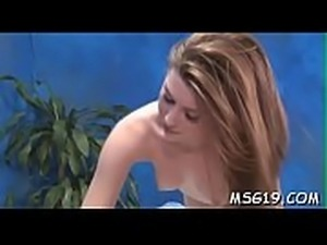 Perfect girl gets oiled and rides big cock with excitement