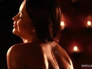 Pierced porn star sensual anal sex
