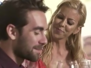 Svelte pale small breasted Eliza Jane is fucked by her aroused neighbor