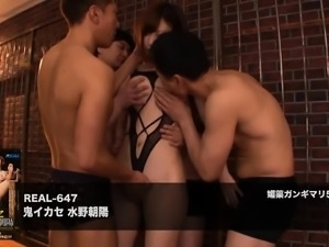 Kinky Oriental babes get their juicy holes pounded rough