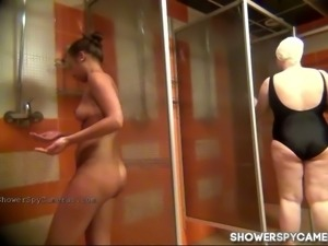 Check out this real Russian amateur girl on voyeur video in the shower room