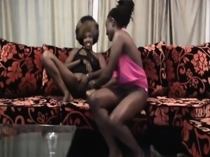 Party girls from Africa are little tipsy and super horny.