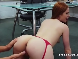 Redhead office babe ella hughes has workplace affair