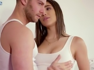 Rather flexible and sexy girlfriend Abella Danger moans during steamy missionary