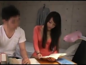 Charming Japanese teen in stocking takes a dick for a ride