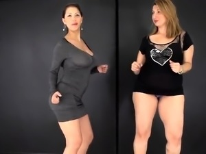 Two curvy mature ladies put their lovely bodies on display