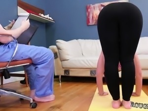 Domination and pervert camera man Ass-Slave Yoga