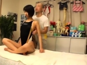 Cute Asian massage babe gives a sensual massage
