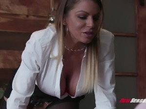 Brooklyn Chase Fucking Younger Employee