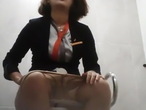 girl in toilet