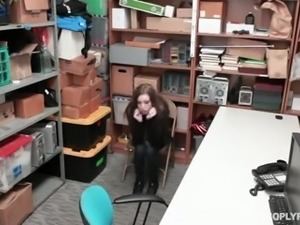 Long haired beautiful girl Tali Dova gets arrested and fucked on the table