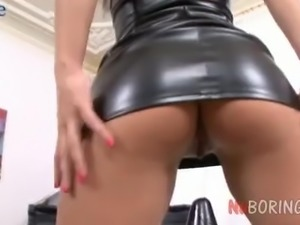Toy addicted real whore Janna C takes DP and gets mouthfucked hard