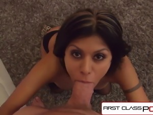 Gabby Quinteros suck & fuck a monster cock, big boobs