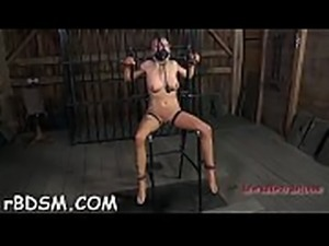 Chick is gagged with a weenie stuffed to her lusty bawdy cleft