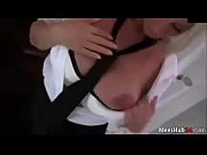 Hot Wife Cums Home to Hubbs as a Dumpster and His Creampie