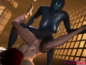 Hot Mass Sex Effect hard sex action