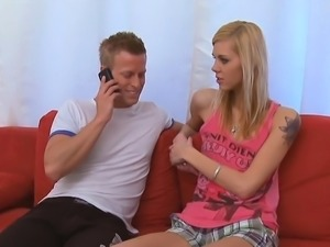 Enchanting young hottie gives passionate ride to an old dude