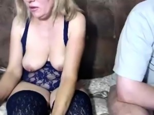 Hairy Granny in Stockings Toys and Fucks