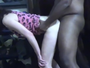 white slut takes bbc and swallows load