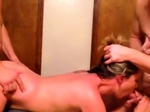slutty amateur blonde milf with gangbang skills