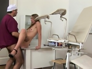 Facile cutie is fucking her doctor, like a wild brute