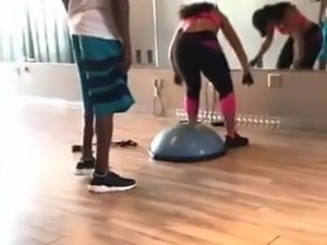 Ashanti working out