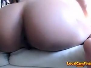 Sexy ebony masturbating on cam