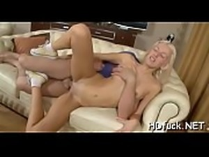 Exquisite playgirl likes to give a blowjob and to get group-fucked