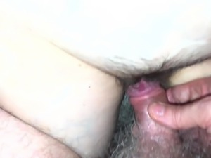 Eating and Fingering Hairy MILF Pussy