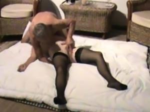 Stockings mature amateur hottie