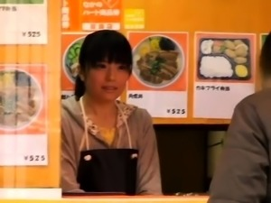 Pretty Japanese teen gets her wet pussy fingered in public