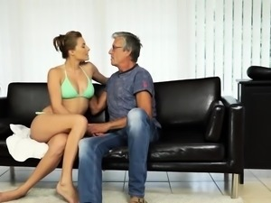 Old man piss group and daddy we cant do this Sex with her