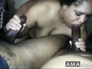 WIFE SUCKING 2 DICKS