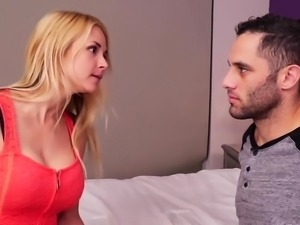 Aubrey Sinclair blowjob her stepsons big juicy tender cock