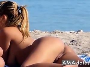 Spy cam beach