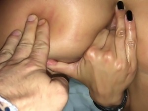 Erotic oil dp masturbation