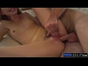 PORNFIDELITY Redhead Squirts from Gagging on Big Dick